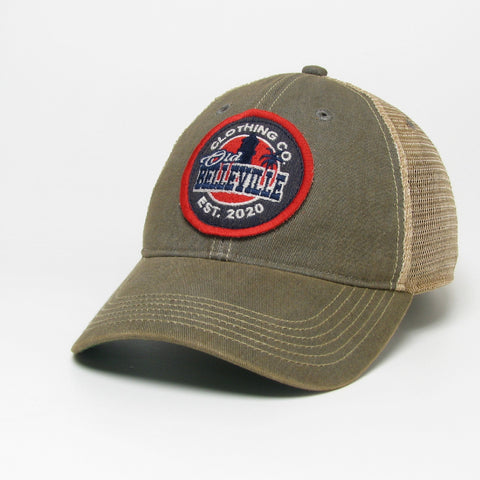 Old Belleville logo mesh hat- Grey