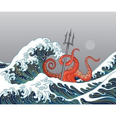 PDW Art Print - Great Wave Kraken