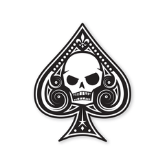 PDW Memento Mori Ace Of Spades Sticker - Type 1