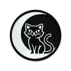 PDW Black Cat Moon GID Morale Patch