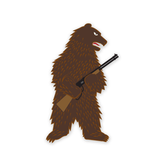 PDW The Right to Arm Bears Sticker