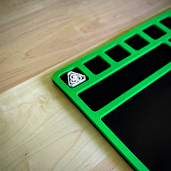 Benchtop Work Mat Toxic Green and Black Edition