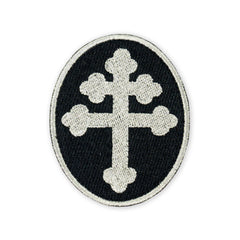 PDW Cross of Lorraine Silver Morale Patch