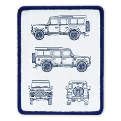 PDW D110 Blue Print LTD ED Morale Patch