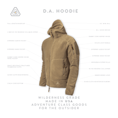PDW DA Hoodie v2 - Heather Terra Brown