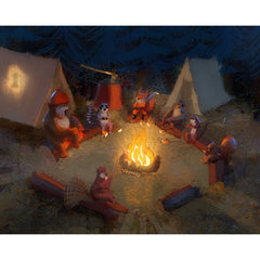 DRB Art Print - Campfire Friends