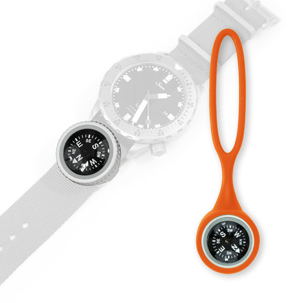 Expedition Watch Band Compass Kit - Orange