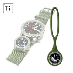Expedition Watch Band Compass Kit Ti - OD Green