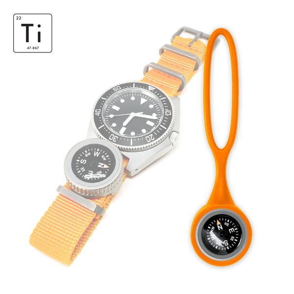 Expedition Watch Band Compass Kit Ti - Orange