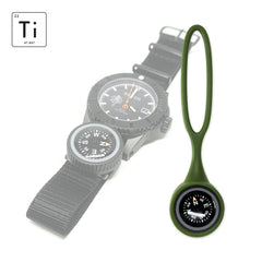 Expedition Watch Band Compass Kit Ti - PVD / OD Green