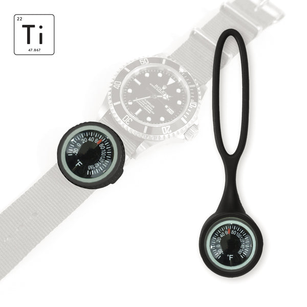 Expedition Watch Band Thermometer Kit Ti - PVD / Black - Fahrenheit