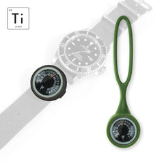 Expedition Watch Band Thermometer Kit Ti - PVD / OD Green - Fahrenheit