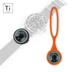 Expedition Watch Band Thermometer Kit Ti - PVD / Orange - Fahrenheit