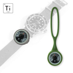 Expedition Watch Band Thermometer Kit Ti - OD Green - Fahrenheit