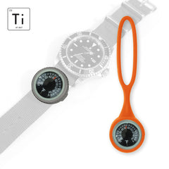 Expedition Watch Band Thermometer Kit Ti - Orange - Fahrenheit