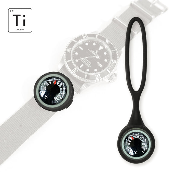 Expedition Watch Band Thermometer Kit Ti PVD - Black - Celsius