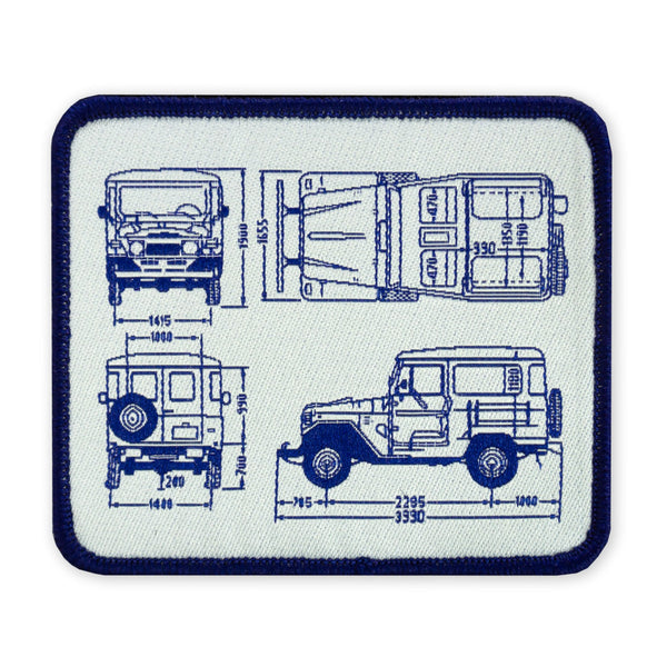 PDW FJ40 BluePrint LTD ED Morale Patch