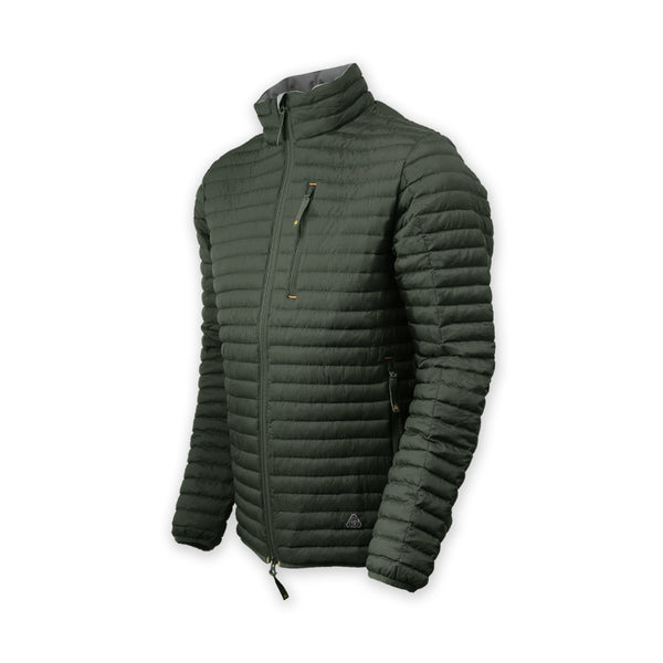 Kepler Down Cardigan - Expedition Green
