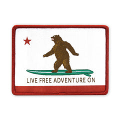 PDW Live Free Adventure On CA State Flag Morale Patch