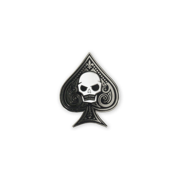 PDW Memento Mori Ace of Spades Lapel Pin