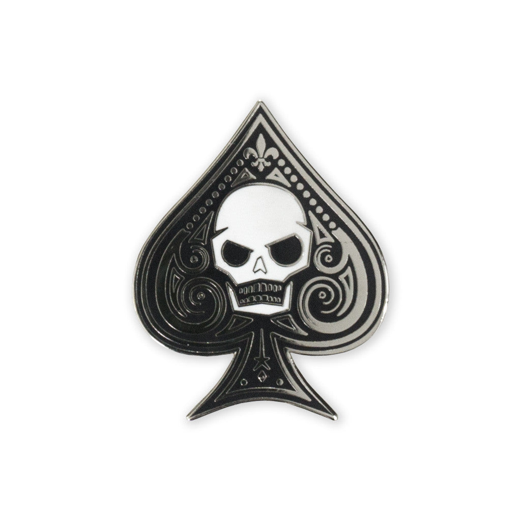 pdw memento mori ace of spades lapel pin pdw prometheus design werx. Black Bedroom Furniture Sets. Home Design Ideas