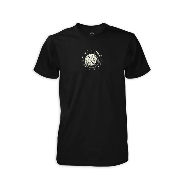 PDW Moon Mission GID T-Shirt - Black