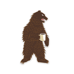 PDW Morning Bear Sticker