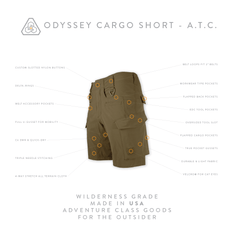 Odyssey Cargo Short ATC - All Terrain Brown
