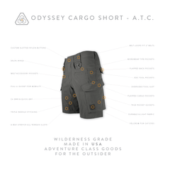 Odyssey Cargo Short ATC - Machine Mineral Gray