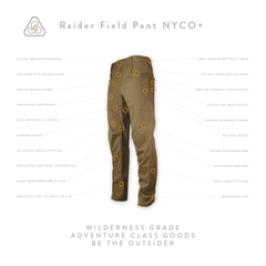 Raider Field Pant NYCO+ - All Terrain Brown