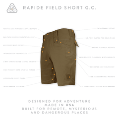 Rapide Field Short GC - All Terrain Brown
