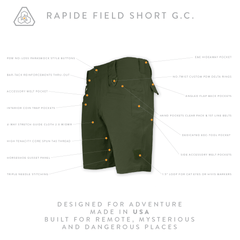 Rapide Field Short GC - Dark Leaf Green