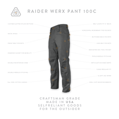 Raider Werx Pant 100C - Motor Pool Gray