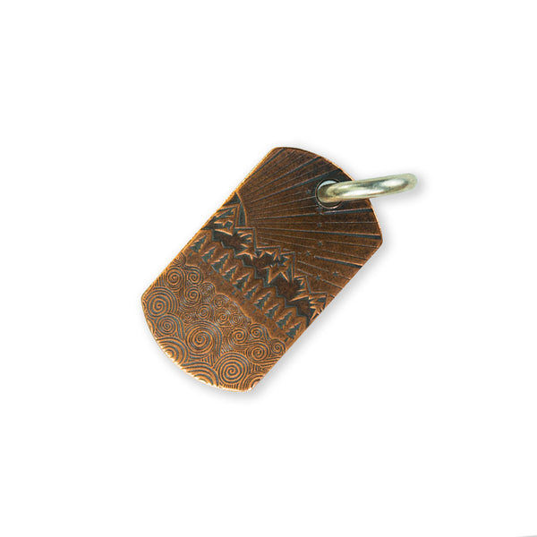 Steel Flame Copper Fatty Dog Tag - All Terrain/Gray Knights with Jump Ring