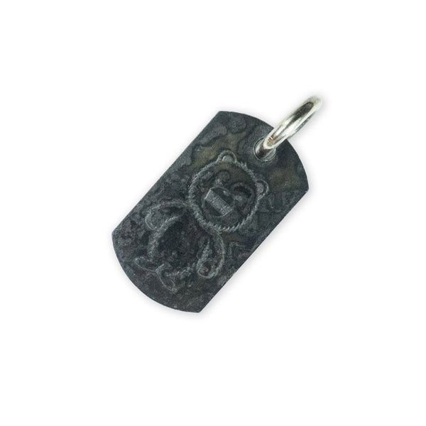 Steel Flame Stainless Fatty Dog Tag - All Terrain / DRB Standing Bear