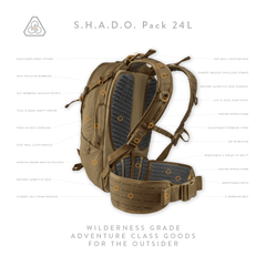 S.H.A.D.O. Pack 24L - All Terrain Brown