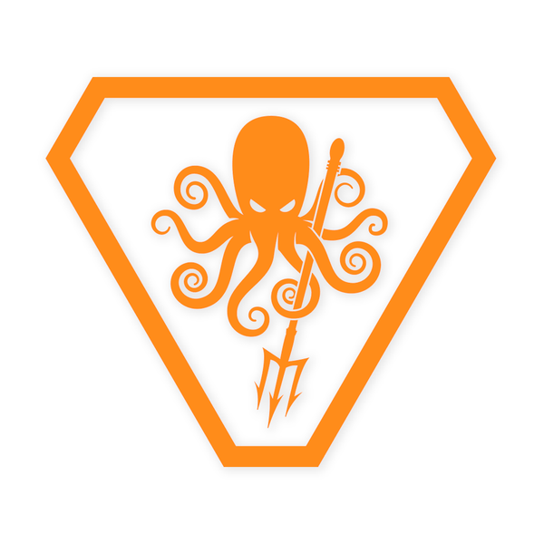 SPD Kraken ProCut Sticker - Orange