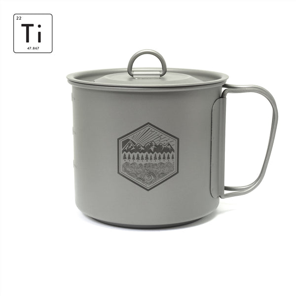 PDW Ti-Line 600ML Mini Pot-Mug with Lid