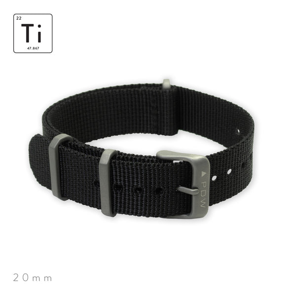 Ti-NATO Strap 20mm - Black