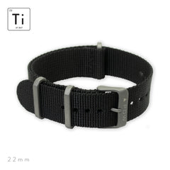 Ti-NATO Strap 22mm - Black