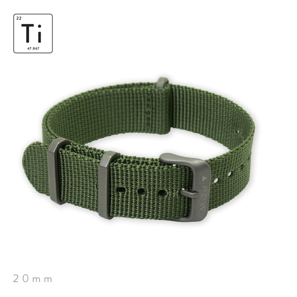 Ti-NATO Strap 20mm - OD Green