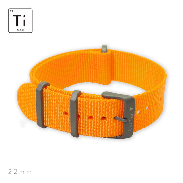Ti-NATO Strap 22mm - Orange