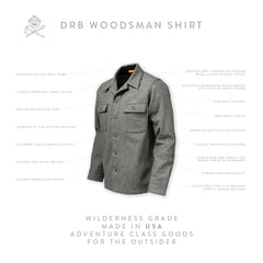 DRB Woodsman Shirt - Heather Gray