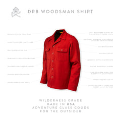 DRB Woodsman Shirt - Camp Master Red