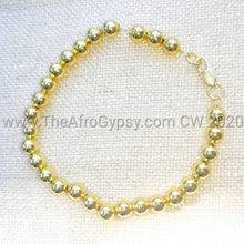 Load image into Gallery viewer, Tiphany's Failure 24K GP Gold Bead Bracelet