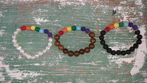Chakra Khan LOVE IS LOVE Diffuser Bead Bracelet