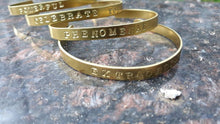 Load image into Gallery viewer, Brass Hand-Stamped Power Bracelet