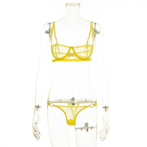 Party TimeTransparent Bra Set