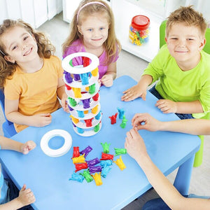Penguin Tower Collapse Desktop Game Balance Toy Challenge Tower