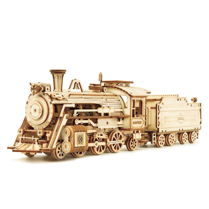 Luxury steam train assembled building blocks